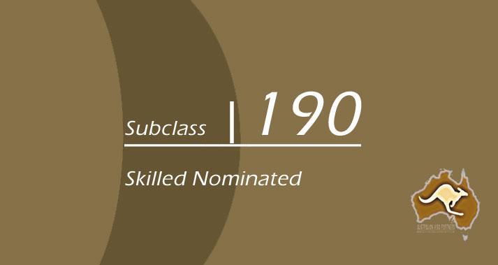 ویزای مهارتی و ویزای تخصصی استرالیا با اسپانسر ایالتی، سابکلاس ۱۹۰